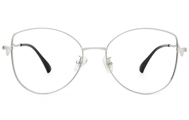 Phillida Cat Eye Metal Eyeglasses