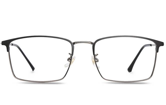 Dario Browline Rectangle Eyeglasses