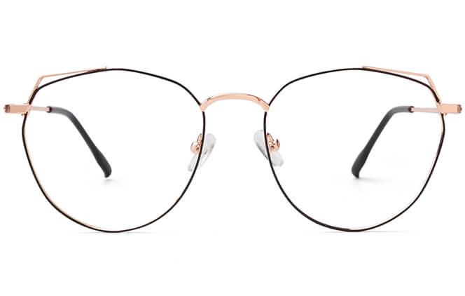 Ramirez Cat Eye Metal Eyeglasses