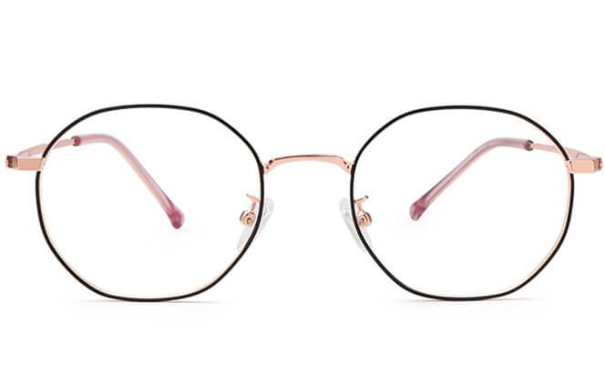 Morales Oval Metal Eyeglasses