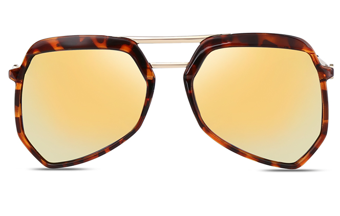 Eve Aviator Polygon Sunglasses