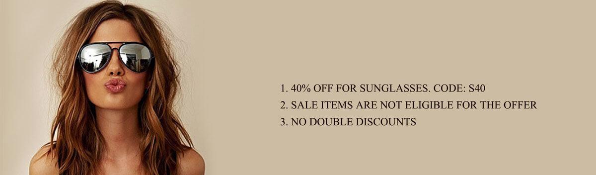 40% off for Sunglasses