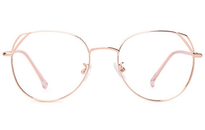 f3147aac53 Zenia Cat Eye Metal Eyeglasses