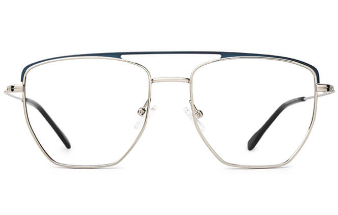Shay Aviator Metal Eyeglasses