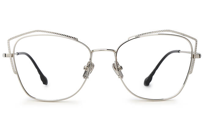 Calderon Cat Eye Metal Eyeglasses