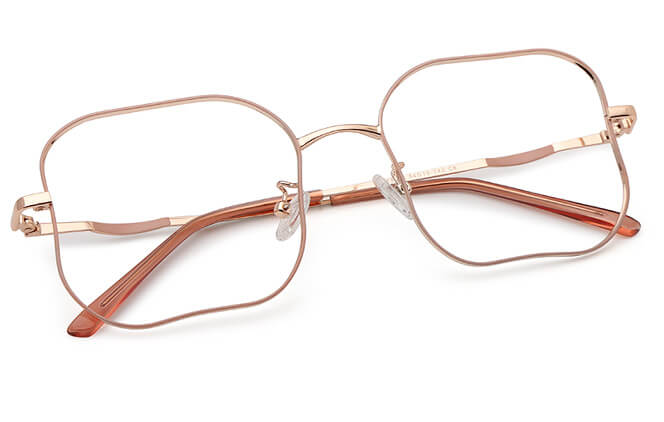 Ivory Rectangle Metal Eyeglasses
