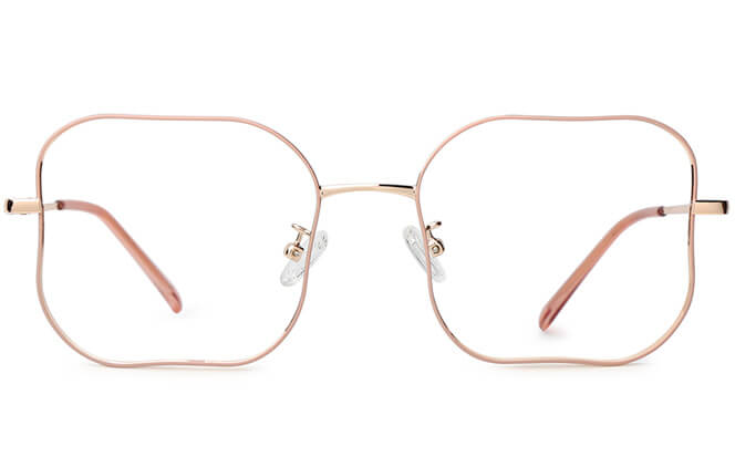Ivory Rectangle Metal Eyeglasses