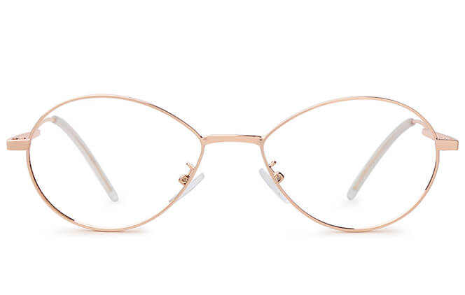 Castro Oval Metal Eyeglasses