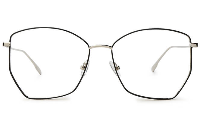 Amari Rectangle Metal Eyeglasses