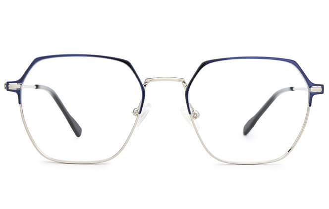 Wynn Metal Hexagon Eyeglasses