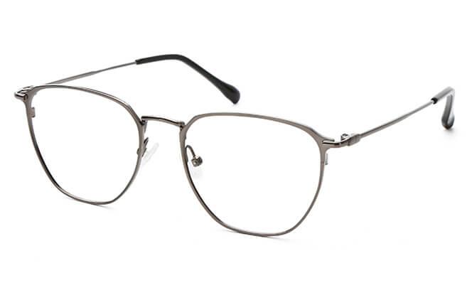 Starr Metal Rectangle Eyeglasses, Gold;black;grey;silver