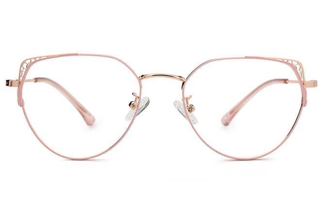 Skyler Cat Eye Metal Eyeglasses