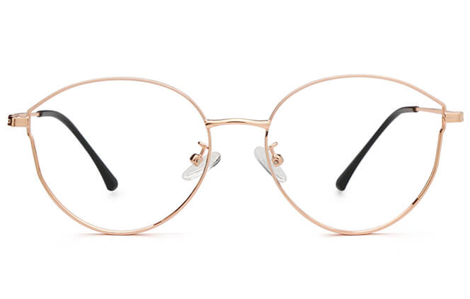 Kennedy Round Metal Eyeglasses