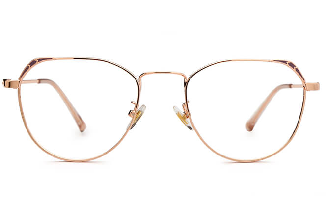 Everly Round Metal Eyeglasses