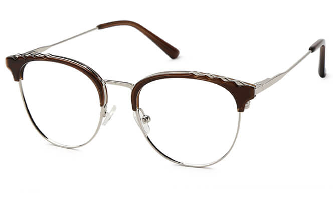 Devin Browline Spring Hinge Eyeglasses, Grey;brown;black;tortoiseshell