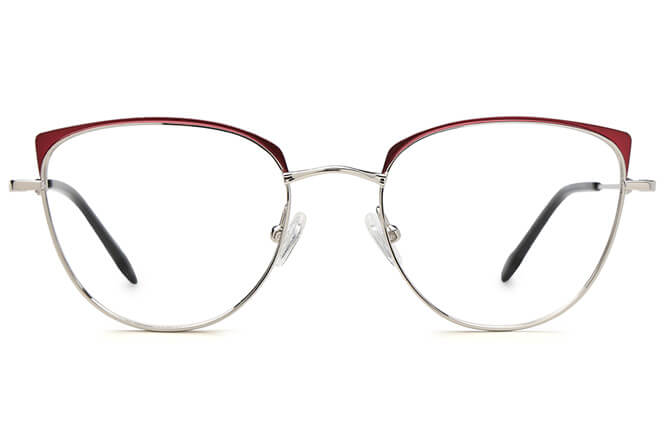 Gemma Cat Eye Metal Eyeglasses