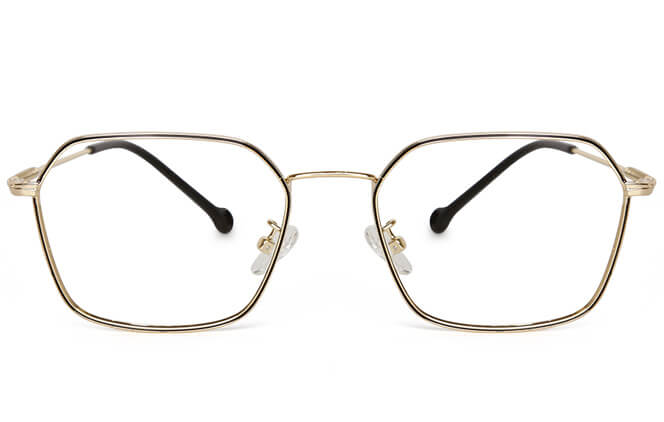 Reagan Metal Pentagon Eyeglasses