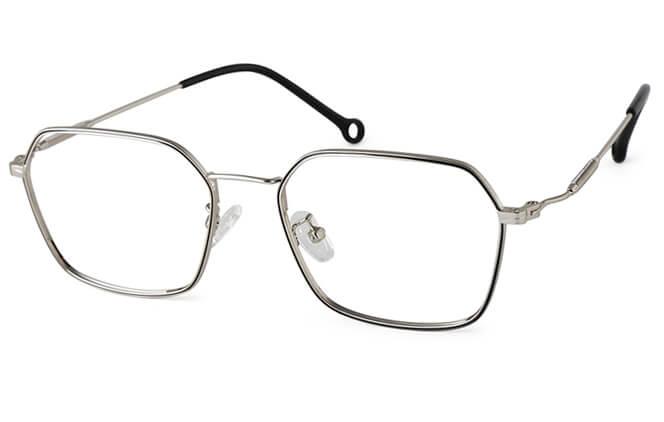 Reagan Metal Pentagon Eyeglasses