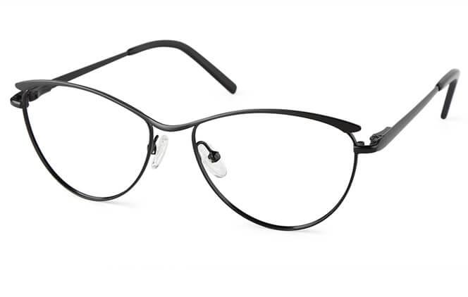 Carbtree Browline Spring Hinge Eyeglasses, Black