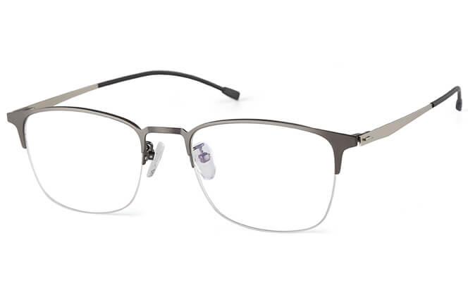 Elliot Rectangle Semi-rim Eyeglasses