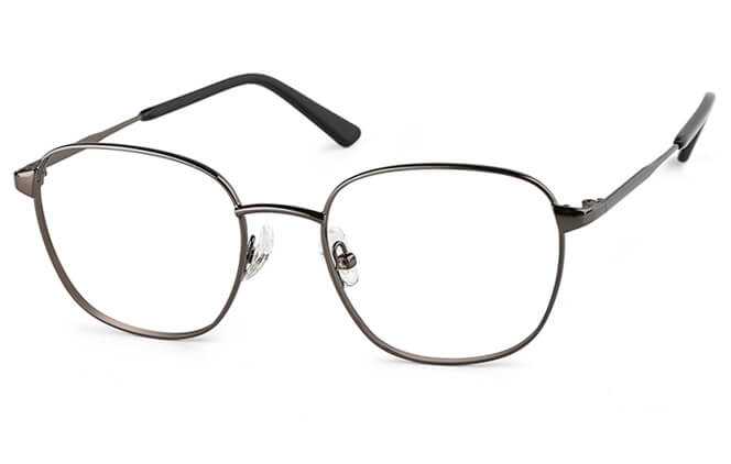 Hadley Rectangle Metal Eyeglasses