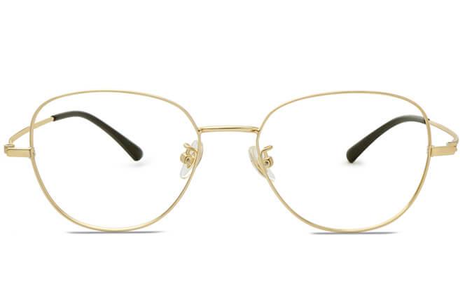 Awilda Titanium Round Eyeglasses
