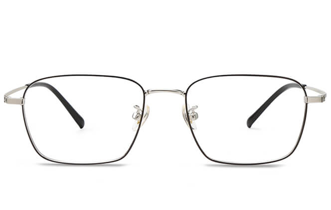 Trista Titanium Rectangle  Eyeglasses