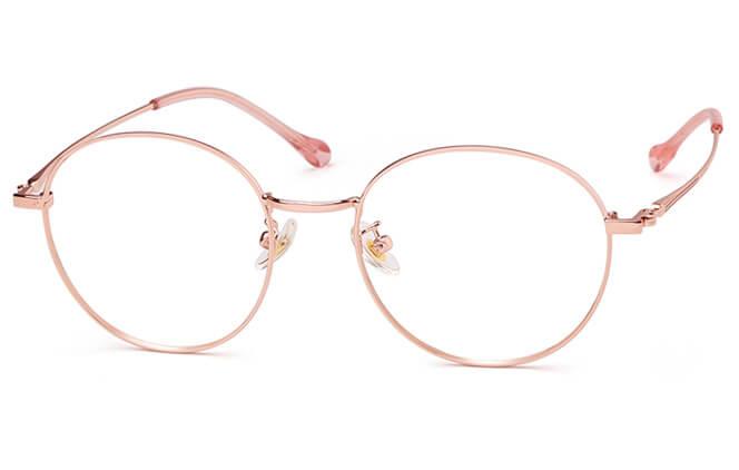 Shandra Round Metal Eyeglasses фото