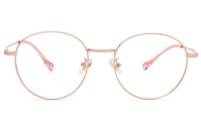 Shandra Round Metal Eyeglasses