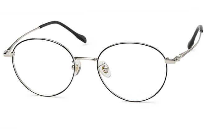 Raph Round Metal Eyeglasses фото