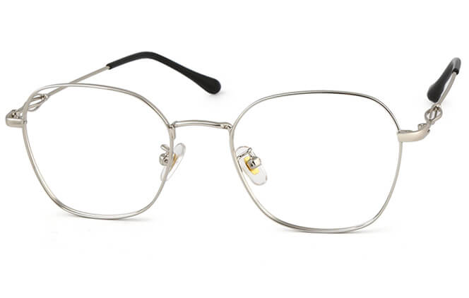 Talitha Rectangle Metal Eyeglasses фото