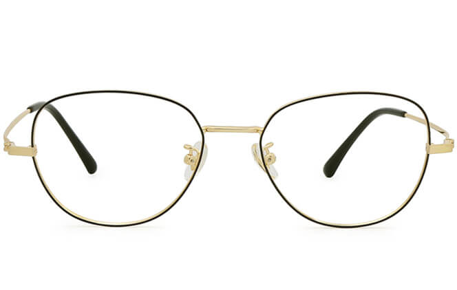 Claudie Titanium Rectangle Eyeglasses