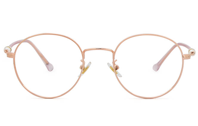 Kittie Round Eyeglasses