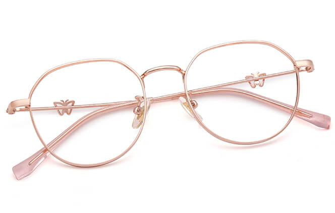 Tiffanie Round Metal Eyeglasses