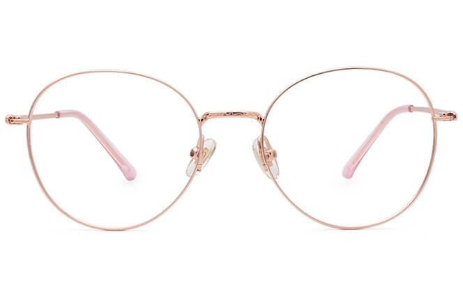 Mollia Titanium Round Eyeglasses
