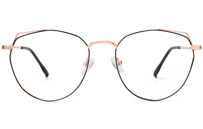 Ramirez Cat Eye Metal Eyeglasses