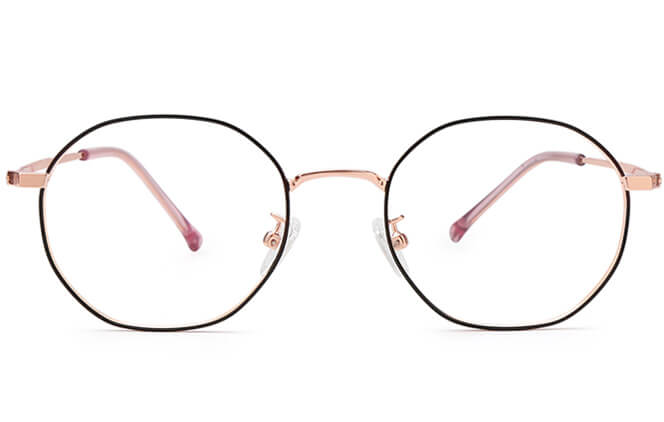 Morales Oval Metal Eyeglasses