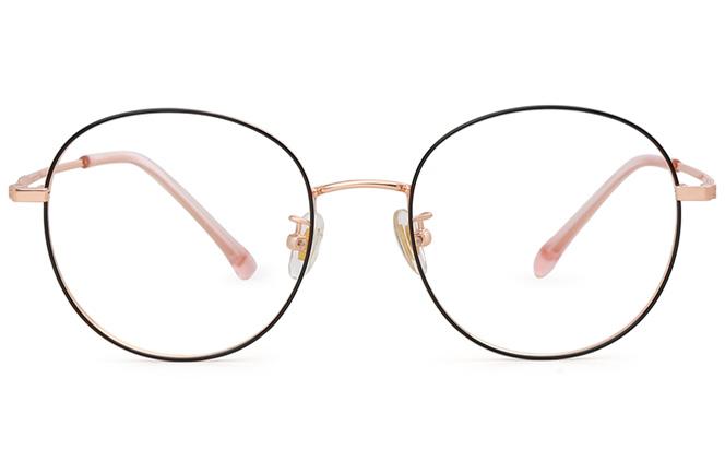 Lydia Metal Round Eyeglasses