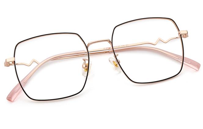 Mila Metal Square Eyeglasses