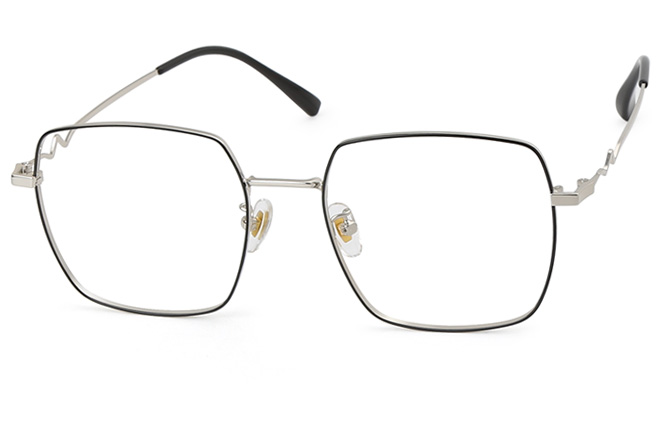 Mila Metal Square Eyeglasses фото