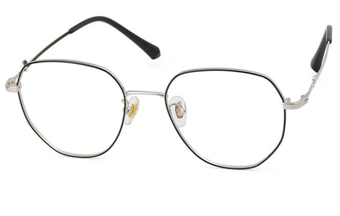 Heesch Round Eyeglasse, Black and rose gold;black;rose gold