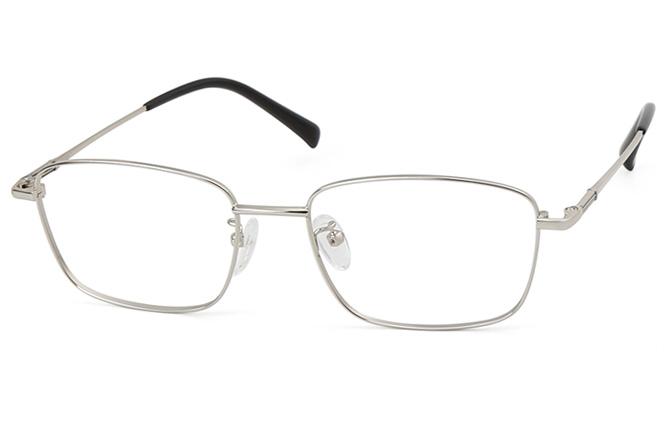 Brad Titanium Rectangle Eyeglasses, Black;silver;gold;grey