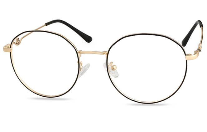 Kendall Round Eyeglasses, Gold;silver;rose gold