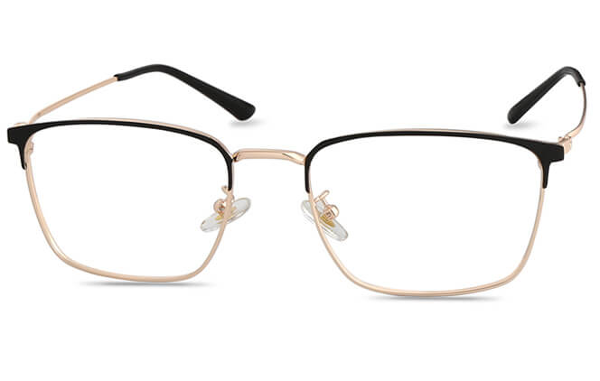 Frida Browline Eyeglasses, Gold