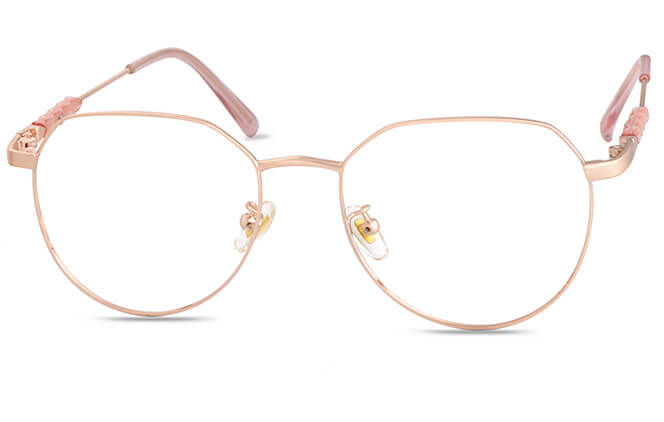 Vlada Oval Eyeglasses, Rose gold