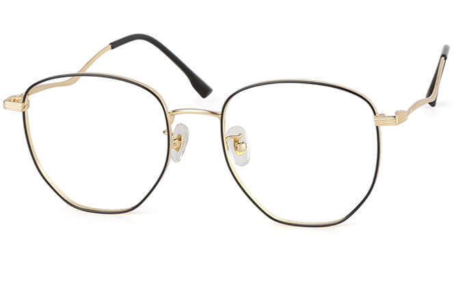 Cindy Square Eyeglasses, Silver;gold