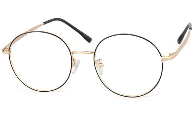 Gisele Round Eyeglasses, Black