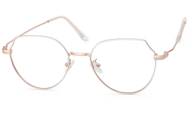 Irene Cat Eye Eyeglasses, Gold