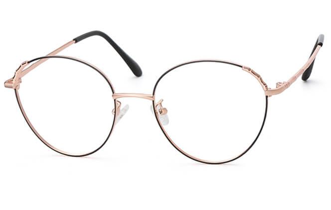 Sonam Cat Eye Eyeglasses, Rose gold;silver