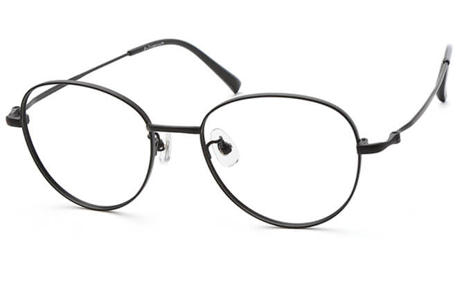 Shelby Titanium Cat Eye Eyeglasses, Black;gold;rose gold